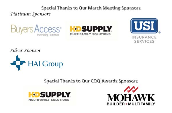 March Meeting Sponsors