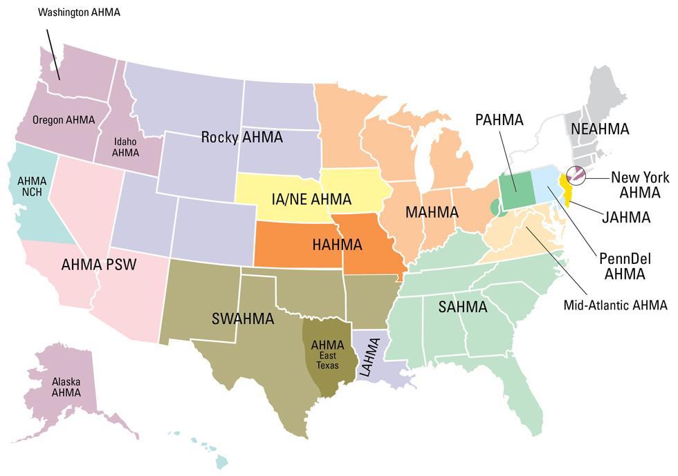 AHMA Directory Map